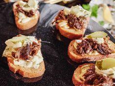 Get Giada De Laurentiis's Braised Short Rib Crostini with Remoulade Recipe from Food Network
