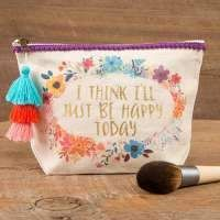 Natural Life I Think Ill Just Be Happy Today Canvas Pouch >>> Details can be found by clicking on the image. (This is an affiliate link) Just Be Happy, Happy Today, Pencil Pouch, Pouch Bag, I Love Mommy, Embroidery Services, Paper Store, Custom Wedding Invitations, Natural Life