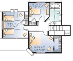 Traditional House Plan 65114 Level Two