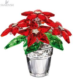 e4c70c76a 1139997 Swarovski Poinsettia, large Christmas Jewelry, Christmas Poinsettia,  Christmas Star, Christmas Ornaments