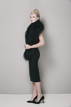 HCT Mongolian Vest in Onyx available here: http://heathercampbelltextiles.com/collections/furs