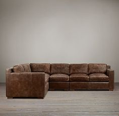 Collins Leather Sectionals | Restoration Hardware