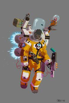 CDG Space Pirate, Olivier Le Borgne on ArtStation at https://www.artstation.com/artwork/30Lk2