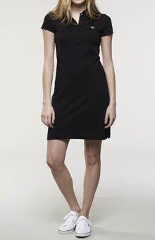 Lacoste Short Sleeve 5 Button Stretch Pique Polo Dress Polo Dress Outfit,  Dress Outfits, acdc5bdf81