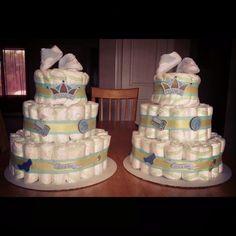 Diaper Cake for Baby Boys