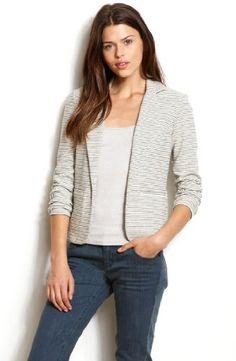 Armani Exchange Womens Striped Blazer