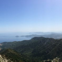 Elba, view from Monte Capanne
