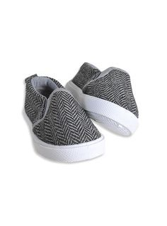Pumpkin Patch - footwear - baby boys herringbone slip-ons - W3FW10008 - steel grey - 1 to 4 Clthes for your little hero -