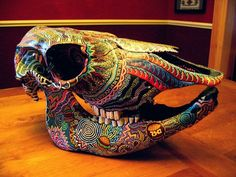 DOBERDOR Carved Texas Longhorn Cow Skull - (Bos taurus) O want to do this with Babes skull. Description from pinterest.com. I searched for this on bing.com/images