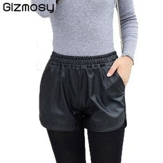 1 Pcs Shorts Women Slim Fit Elastic Waist PU Leather Fabric Mini Sexy Shorts Ladies Plus Size Casual Solid Shorts 6 Colors Spring Shorts Outfits, Shorts Outfits Women, Short Outfits, Gym Shorts Womens, Plus Size Dresses Australia, Leather Fabric, Pu Leather, Short Fille, Plus Size Casual