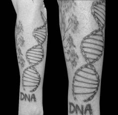Cycology gear's DNA design tattooed on Peter Beckerleg.