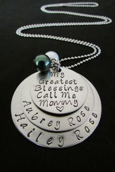 Hand Stamped Jewelry Personalized by OneHandStampingMomma on Etsy, $24.00