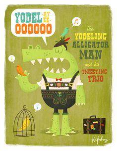 An Illustration-a-Day Blog: The Alligator Man
