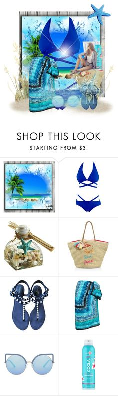 """""""enjoy yourself"""" by princhelle-mack ❤ liked on Polyvore featuring Pier 1 Imports, Rebecca Minkoff, Chanel, Gottex, Matthew Williamson, COOLA Suncare and St. Tropez"""
