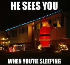 I should do this when kids are older and say they don't believe in Santa lol!