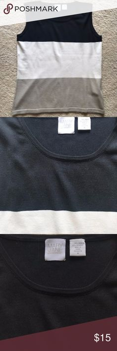 Mary Jane Colorblock Sleeveless Shirt Mary Jane colorblock sleeveless shirt, size M. Great work shirt, gently worn. Mary Jane Sweaters