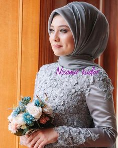 19 - 2019 Year tend Turban and Turban Wedding Gowns - 1 Fashion comes and goes, but the turban takes the test of time. Everything changes, but the tur. Muslim Wedding Dresses, Muslim Brides, Muslim Girls, Muslim Women, Designer Wedding Dresses, Wedding Gowns, Bridal Hijab, Wedding Hijab, Mode Abaya