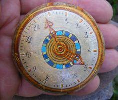 """""""Watches"""", front part. Baltic Sea Stone, 'Magic Paints for Talismans', Le-Za © 2008"""