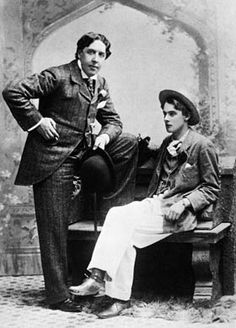 Oscar Wilde and his lover, Bosie (Lord Alfred Douglas)