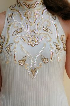 decorative beads and sequin