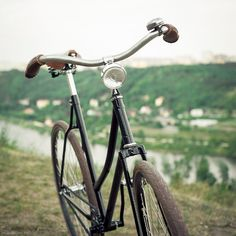 My bike for comfortable city riding:). Old czech bike recycled. Single-speed / Brooks saddle / Schwalbe tires