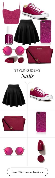 """""""Cruise #4"""" by fangirlsfandom on Polyvore featuring Converse, MICHAEL Michael Kors, Yves Saint Laurent, Matthew Williamson, Essie and NARS Cosmetics"""