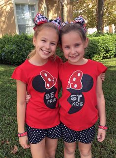 Best Friends Minnie Disney Shirts BFF by thesouthernbelleco