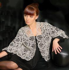 Блуза из елецкого кружева. Ручная работа Плетение на коклюшках.  #Handmade_Weave_Bobbin