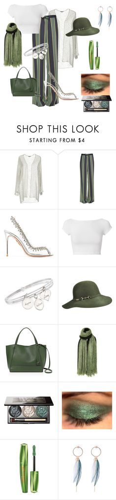 """Evergreen monster ❣️❣️"" by tedegirl ❤ liked on Polyvore featuring Giorgio Armani, Dries Van Noten, Aquazzura, Helmut Lang, Ross-Simons, Betmar, Botkier, Isabel Marant, Chantecaille and Rimmel"