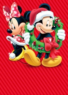 Disney's Mickey and Minnie Mouse Minnie Y Mickey Mouse, Mickey Love, Mickey Mouse Christmas, Mickey Mouse And Friends, Minnie Mouse Pictures, Disney Pictures, Disney Fun, Walt Disney, Disney Printables