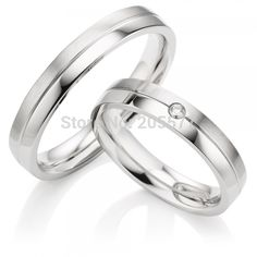 his and hers rings  custom handmade Pure Titanium Wedding Rings wedding rings for men and women white gold color - http://jewelryfromchina.com/?product=his-and-hers-rings-custom-handmade-pure-titanium-wedding-rings-wedding-rings-for-men-and-women-white-gold-color