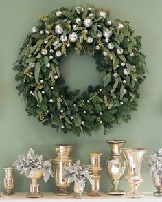 Noble Fir and Eucalyptus Wreath