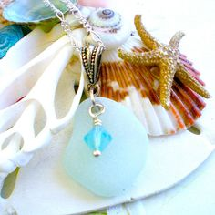 Beach Glass Necklace by SurfSeaGlass on Etsy, $20.00
