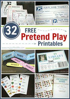 32 FREE Pretend Play Printables