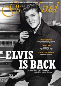 "Photo: ""Welcome Home Elvis"" - press conference in his father Vernon's office at Graceland on Monday, 7th March 1960 
