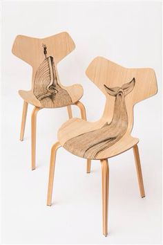 Il Tuffo - Fritz Hansen Grand Prix chair, tattoo by Pietro Sedda for Fantastic Wood project by Diego Grandi. On auction for Dynamo Camp http://www.charitystars.com/auctions?tid=565