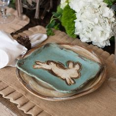 Easter Bunny Pottery Collection by Etta B