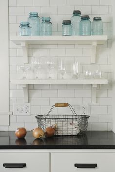 love these open shelves