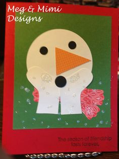 Blowing Kisses Snowman - SU stocking punch, etc