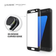 G. d. smith 3d della copertura completa di vetro temperato protezione dello schermo per samsung galaxy s7 edge sicurezza pellicola protettiva al dettaglio e all'ingrosso
