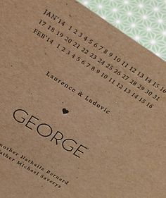 letterpress birth announcement printed by Polyprint24.be