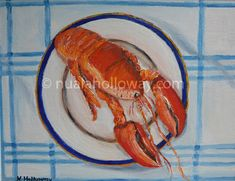 """Lobster"" by Nuala Holloway - Oil on Canvas Irish Art, Seaside, Oil On Canvas, Beach, Painted Canvas, Oil Paintings"