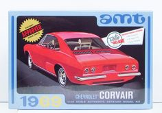 "1969 Chevrolet Corvair - Can be built stock, custom or competition - Bucket seats, ""Sprint"" steering wheel - Stinger deck lid and custom scoops Brand new kit in"