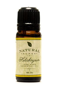 #Helichrysum Essential Oil - 100% Pure Therapeutic Grade Helichrysum Oil by Natural Acres - 10ml: At Natural Acres we strive to provide our customers with all na...