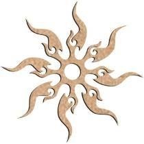 Mandala Sol - Mdf
