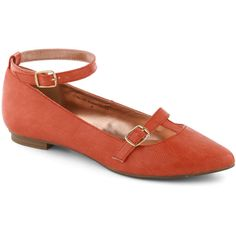 Flawless Frolic Flat in Red ($50) ❤ liked on Polyvore