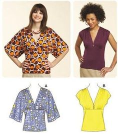 Kwik Sew Kimono Knit Tops Pattern (Item Number: KP-3616). I reckon I can draft this from similar shirts I have already.