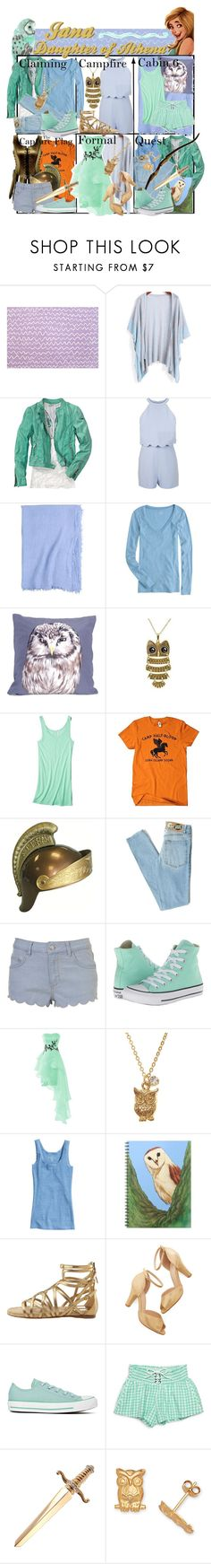 """""""Requested by janabanana23: Jana Daughter of Athena ~ Wardrobe"""" by liesle ❤ liked on Polyvore featuring Designers Guild, Miss Selfridge, Frette, J.Crew, Katie & the Wolf, Mossimo, CO, Cheap Monday, Converse and H&M"""