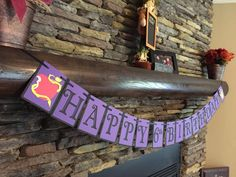 Disney Descendants Inspired Birthday Banner by PaperMadeParty Construction Birthday Parties, 10th Birthday Parties, Farm Birthday, Disney Birthday, Birthday Ideas, Birthday Banners, Construction Party, 1st Birthdays, Birthday Invitations