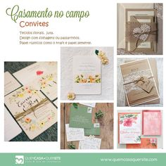 Casamento no Campo – Convites